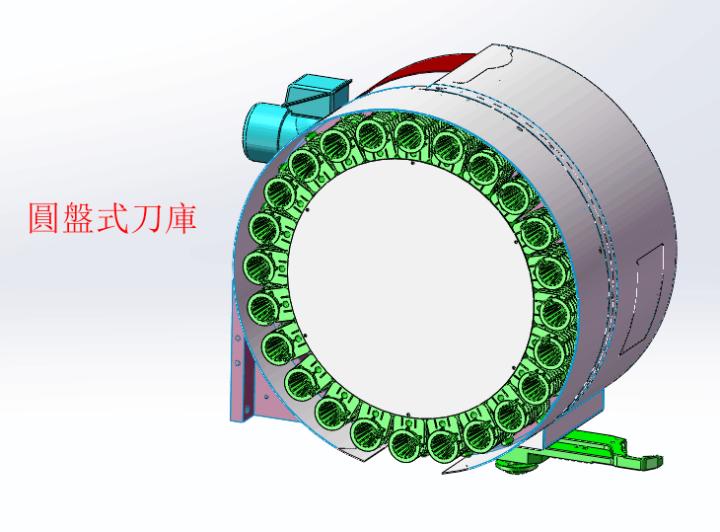 圓盤式刀庫